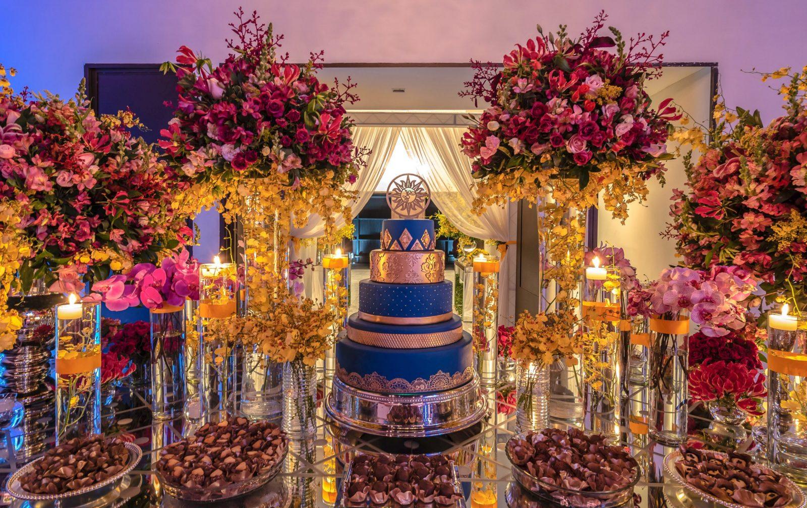 mesa de doces com tema