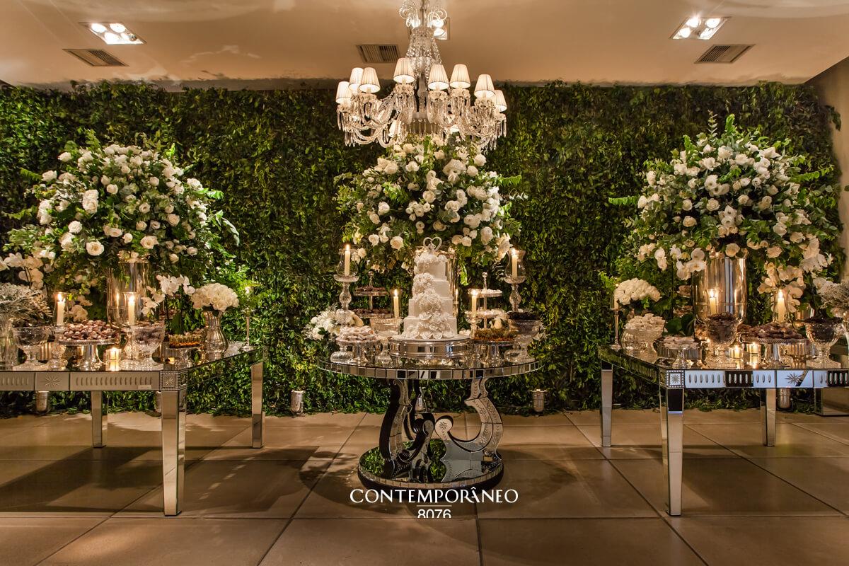 Mesa de doces de um Casamento especial