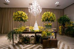 mesa de doces amarela